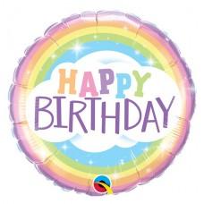 "Happy Birthday Rainbow Balloon - 18"" Foil 45CM"