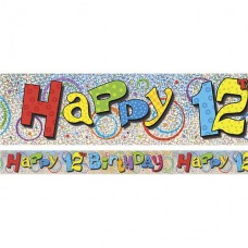 Happy 12th Birthday Banner - 3.6m