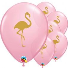 "Pink Flamingo Balloon - 11"" Latex  28 см 5pcs"