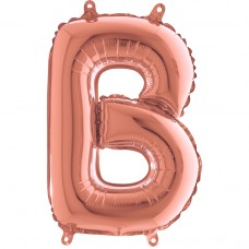 "Letter B Rose Gold mini 14"" 36см Single Pack"