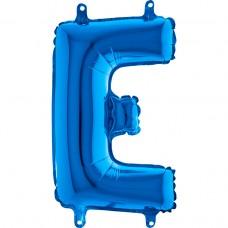 """Letter E Blue mini 14"""" 36см Single Pack"""
