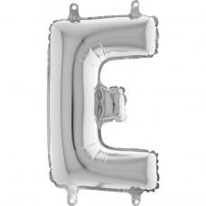 """Letter E Silver mini 14"""" 36см Single Pack"""