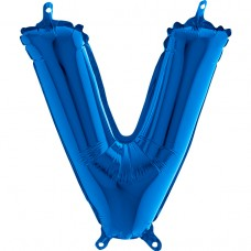 """Letter V Blue mini 14"""" 36см Single Pack"""