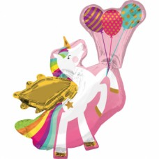 "SuperShape ""Winged Unicorn"" Foil Balloon , P35, packed, 78 x 86cm"