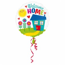 Standard Welcome Home Foil Balloon, round, S40, packed, 43 cm