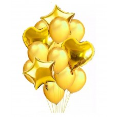 Balloons bouquet Gold - 12 pcs