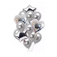 Balloons bouquet Silver - 12 pcs