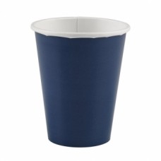 8 Cups Paper Navy Flag Blue 266 ml