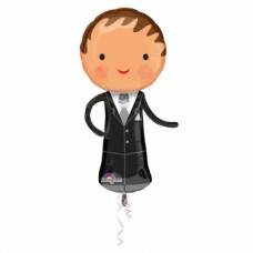 1 SuperShape Handsome Groom FoilBalloon P40 Packaged 48 x 101 cm