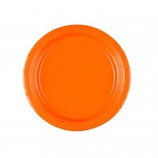 8 Plates Paper Orange Peel 17.7 cm