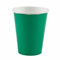 8 Cups Paper Festive Green 266ml