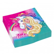 "20 Napkins ""Barbie - Dreamtopia"", 33 x 33 cm"