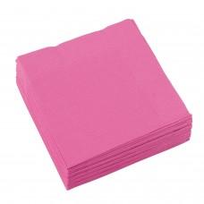 20 Beverage Napkins Bright Pink 25x25cm