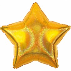 Standard Gold Dazzler Star Foil Balloon S55 Unpackaged