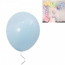Latex Balloons - Macaron 30 cm - 10 pieces - light blue