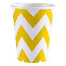 8 Cups Sunshine Yellow Chevron250 ml