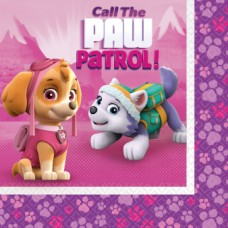 "20 Napkins ""Paw Patrol Pink"", 33 cm"