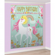 Scene Setter Decoration With Photo Props Magical Unicorn with 12 photo props - 182cm x 149.8 cm