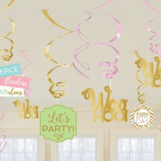 12 Swirls Confetti Fun