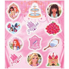 Princess Stickers 1 sheet with 12 stickers