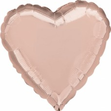 "Standard ""Rose Gold Decorator"" Foil Balloon Heart, S15, Unpackaged, 43cm"