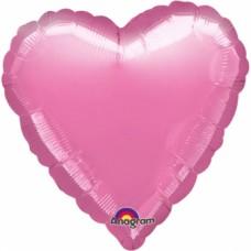 Standard Heart Metallic Lavender Foil Balloon S15 Unpackaged