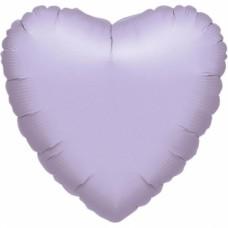 Standard Heart Metallic Pearl Pastel Lilac Foil Balloon S15 Unpackaged