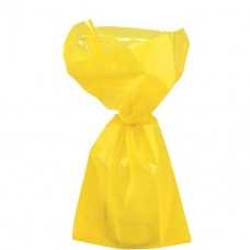 Yellow Small Cello Party Bags - 24cm 1pc
