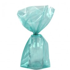 Robins Egg Blue Small Cello Party Bags - 24cm 1pc