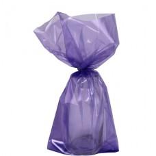 Purple Small Cello Party Bags - 24cm 1pc