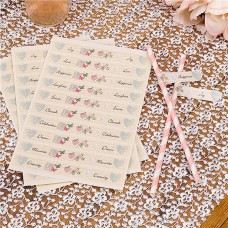 With Love Wedding Flags for Straws - 30pcs