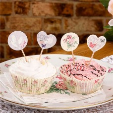 With Love Wedding Cake Picks - 20pcs