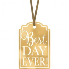 Gold Best Day Ever Tags - 25pcs