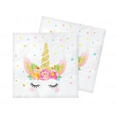 Unicorn paper napkins, 33x33 cm, 20 pcs