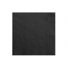Napkins, 3 layers, black, 33x33cm (1 pkt / 20 pc.)