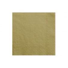 Napkins, 3 layers, gold, 33x33cm (1 pkt / 20 pc.)