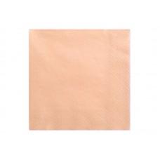 Napkins, 3 layers, salmon, 33x33cm (1 pkt / 20 pc.)