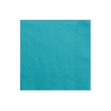 Napkins, 3 layers, turquoise, 33x33cm (1 pkt / 20 pc.)