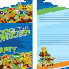 Ninja Turtles Heroes Invites - Party Invitation Cards 8 pcs