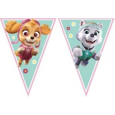 Paw Patrol - Skye and Everest Flags Bunting 2.3m