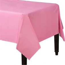 Table Cover Plastic New Pink 137 x 183 cm