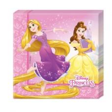 Disney Princess Party Napkins - 2ply Paper  33cm x 33cm-  20 Pcs