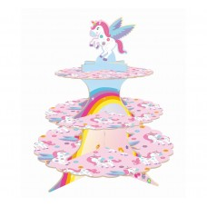 Paper cake stand Rainbow Unicorn