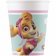 Paper cups 200ml Paw patrol skye and everest nickelodeon, 8 pcs