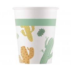 Paper cups Cacti, 200 ml, 8 pcs