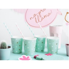 Paper cups Cactus, mix, 220ml (1 pkt / 6 pc.)
