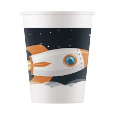 Paper cups Outerspace, 8 pcs