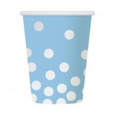 "Paper cups ""Silver dots"", blue, 270 ml, 6 pcs"