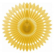 Paper fan decoration, 40 cm, gold, 1 pc