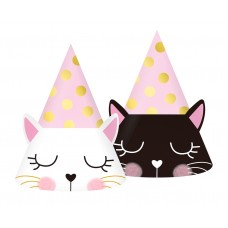 Paper hats Cat, 6 pcs.